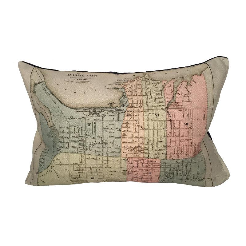 Hamilton Map Pillow