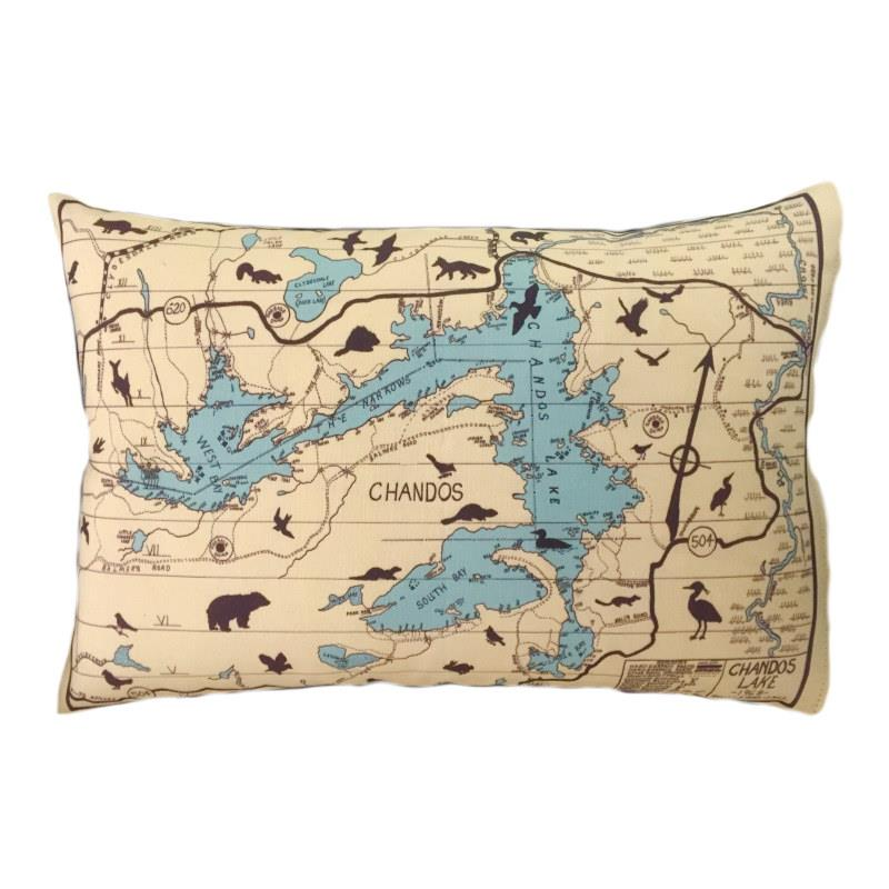Chandos Lake Map Pillow