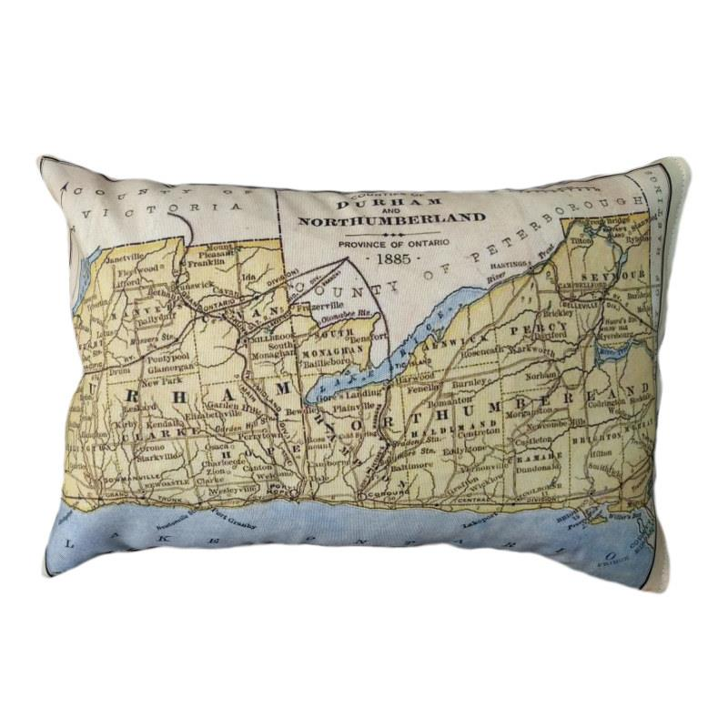 Durham County Map Pillow