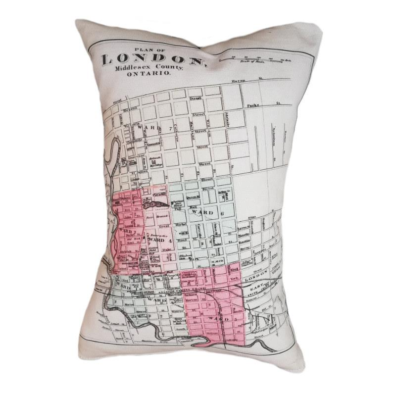 London Map Pillow