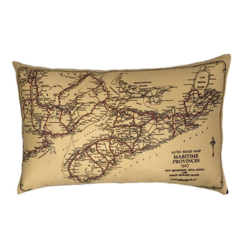 Nova Scotia Map Pillow