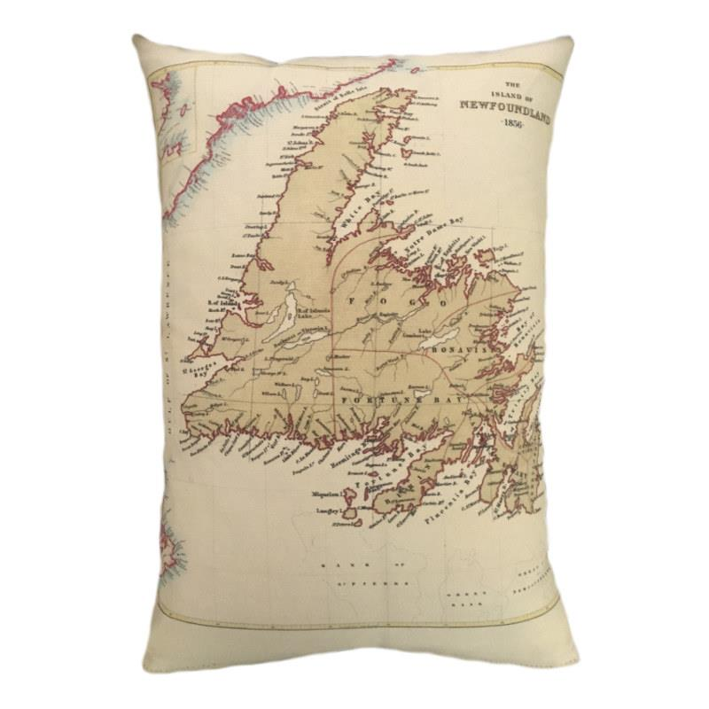 Newfoundland Map Pillow