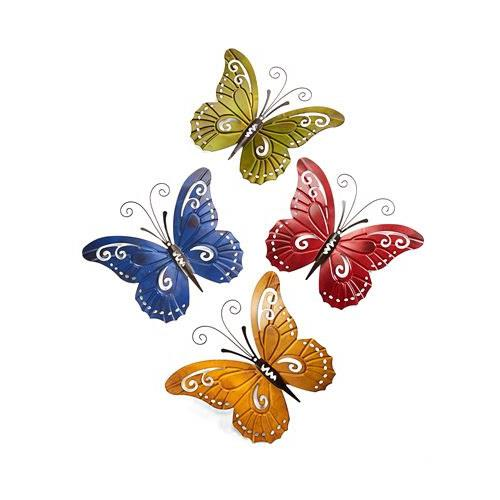 Wrought Iron Butterfly Set of 4