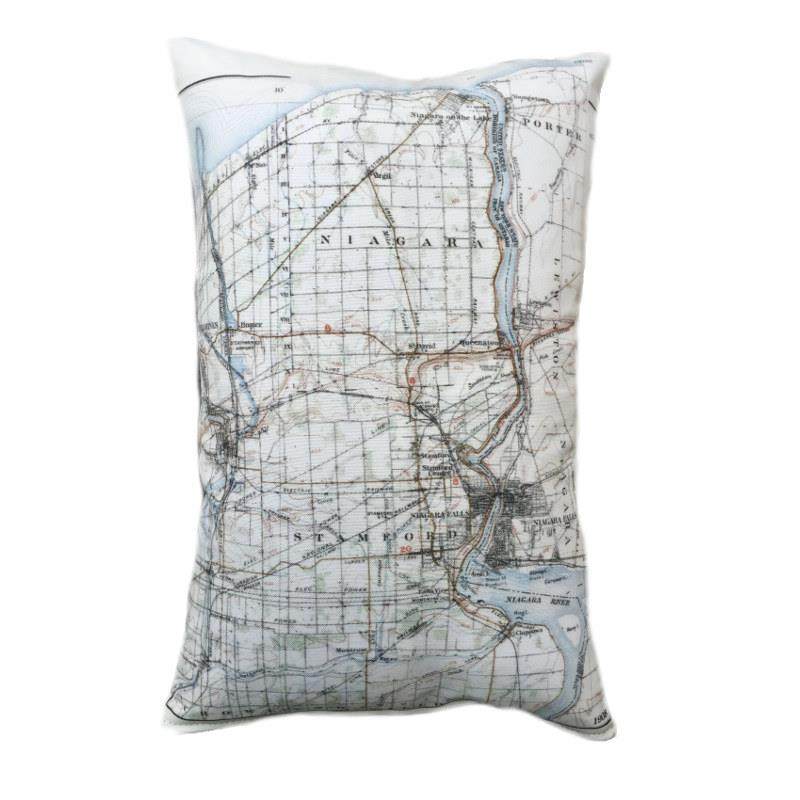 Niagara Map Pillow