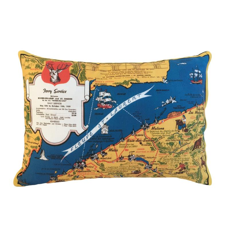 Metis Gaspesie Map Pillow