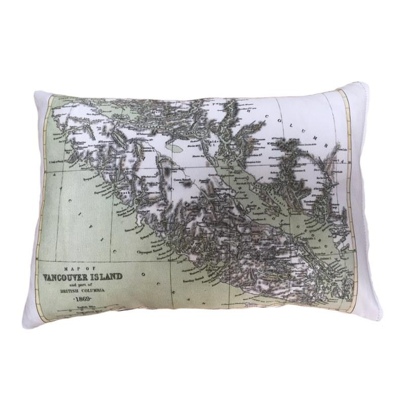 Vancouver Island Map Pillow