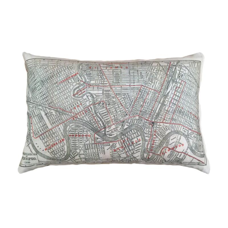 Winnipeg Map Pillow