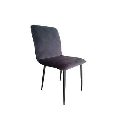 Lucio Dining Chair, Dark Grey Velvet