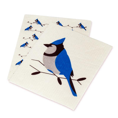 Blue Jay Swedish Dishcloth Set of 2