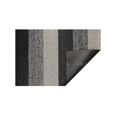 Chilewich Outdoor/Indoor Marbled Stripe Tufted Shag Mat Salt and Pepper