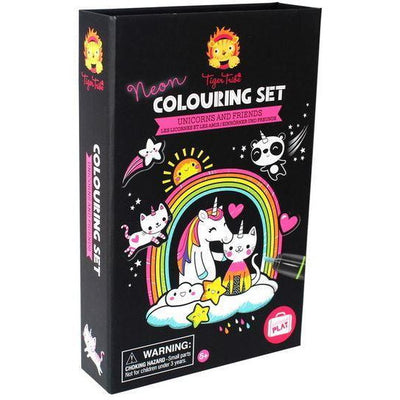Neon Unicorn and Friends Colouring Set