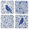 Blue and White Floral Bird Coasters