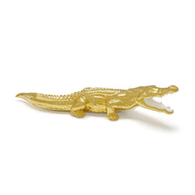 Load image into Gallery viewer, Avery Crocodile (Gold White)