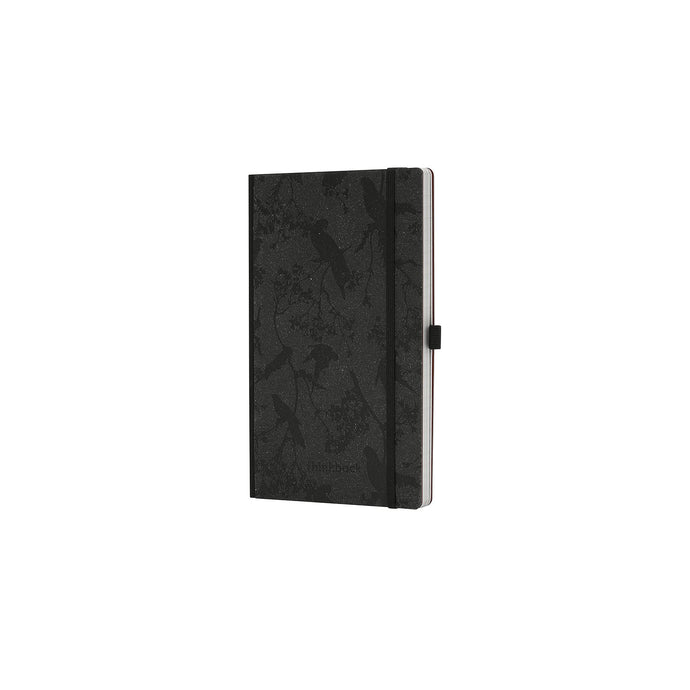 Thinkback Notebook, recycled leather anthracite, lined
