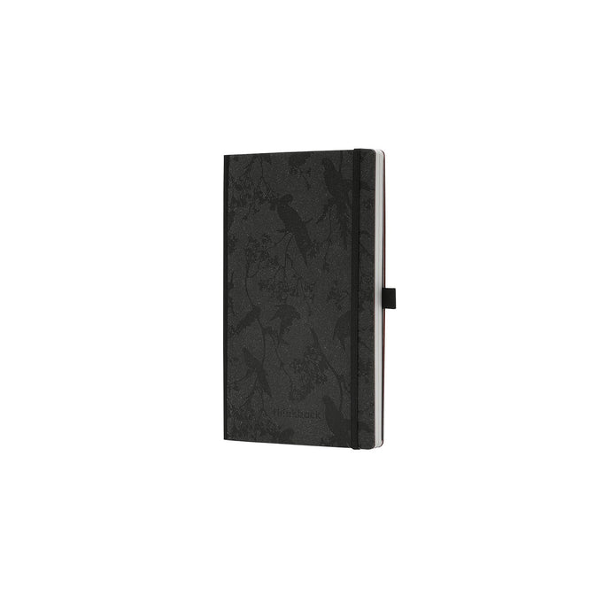 Thinkback Notebook, recycled leather anthracite, plain