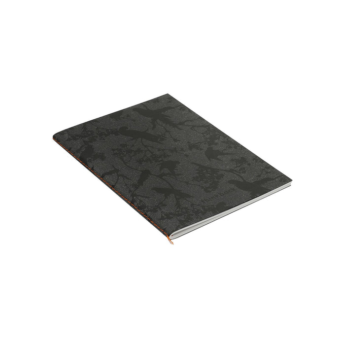 Thinkback Small Copybook, recycled leather anthracite