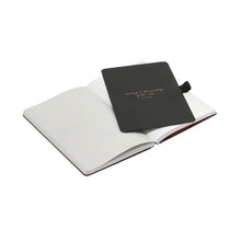 Load image into Gallery viewer, Thinkback Small Notebook, fabric black, lined