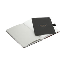 Load image into Gallery viewer, Thinkback Small Notebook, fabric black, plain
