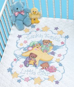 Twinkle Twinkle Quilt - Dimenson Stamped Cross Stitch Kit D03171