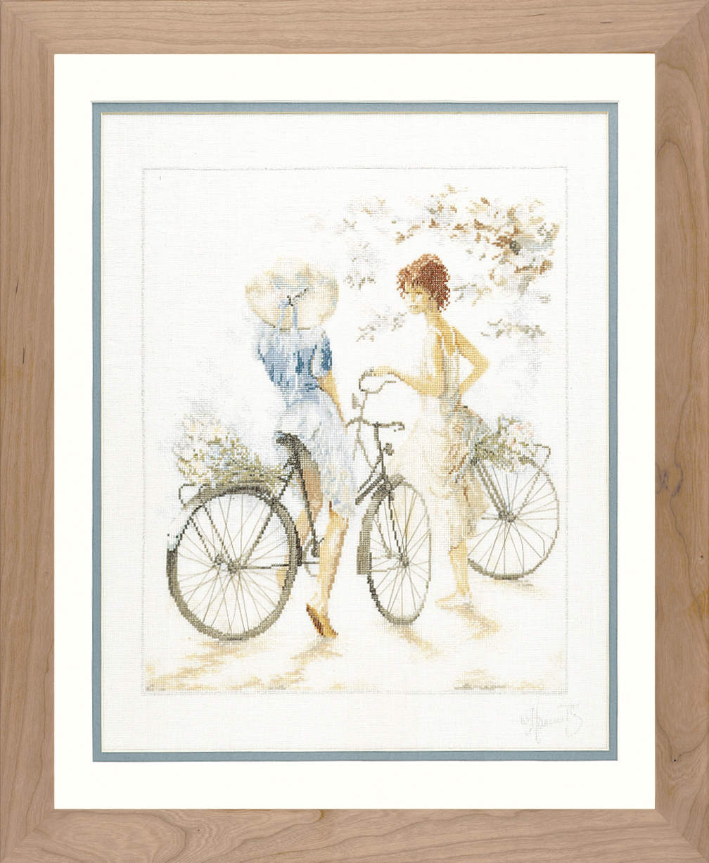 Girls on Bicycles - Lanarte Cross Stitch Kit PN-0007949