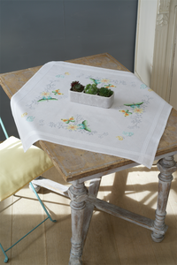 Flowers & Butterflies Tablecloth - Vervaco Cross Stitch Kit