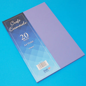 Craft UK Essentials A4 Card - Violet (20 Sheets)