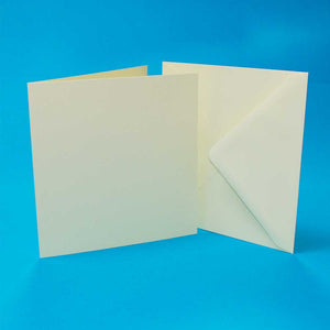 "50 5""x5"" Card Blanks & Envelopes - Ivory"