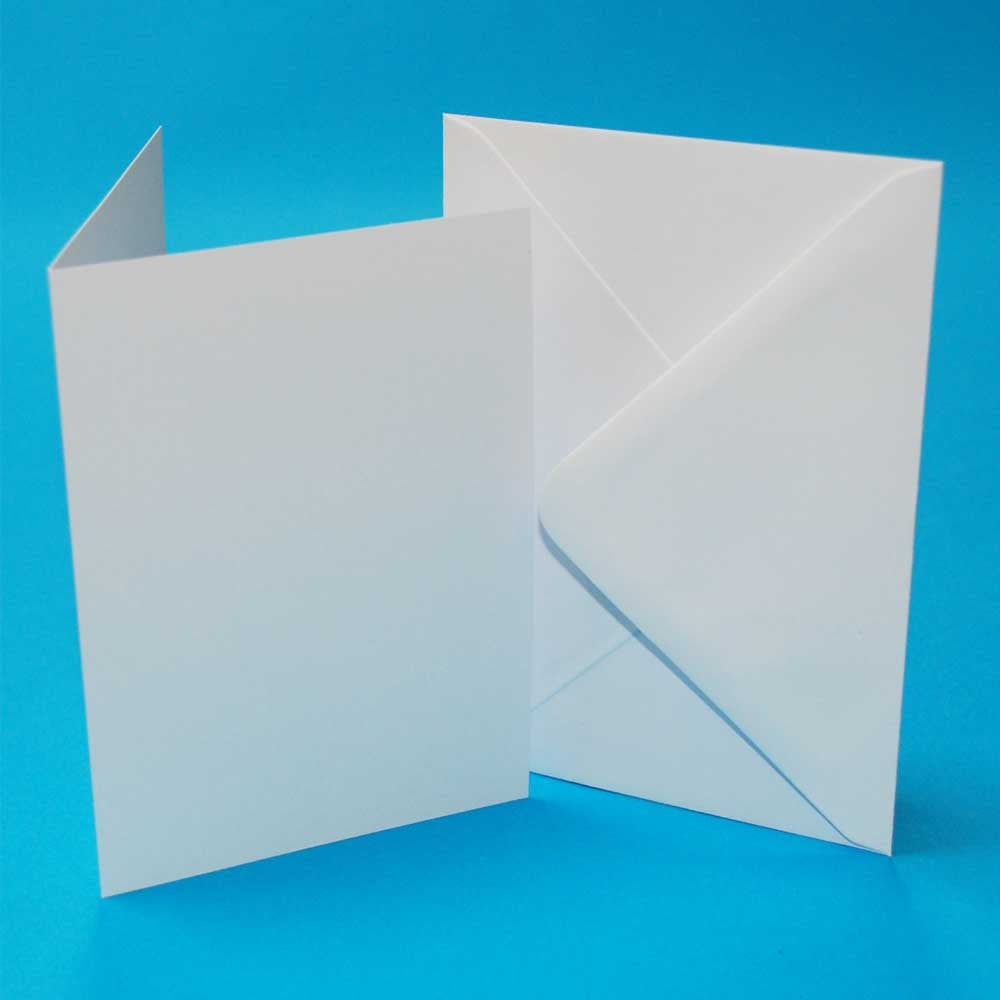 50 C6 Card Blanks & Envelopes - White