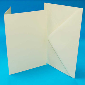 "50  5""×7"" Card Blanks & Envelopes - Ivory 50 Pack"