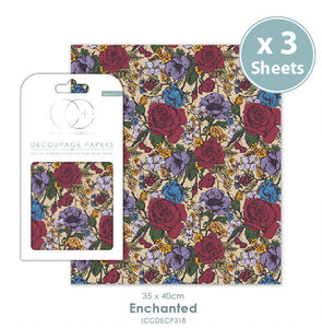 Craft Consortium Enchanted - Decoupage Papers Set (3 Sheets)