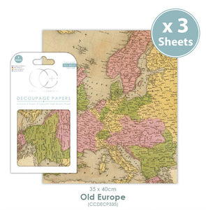 Craft Consortium Old Europe - Decoupage Papers Set (3 Sheets)
