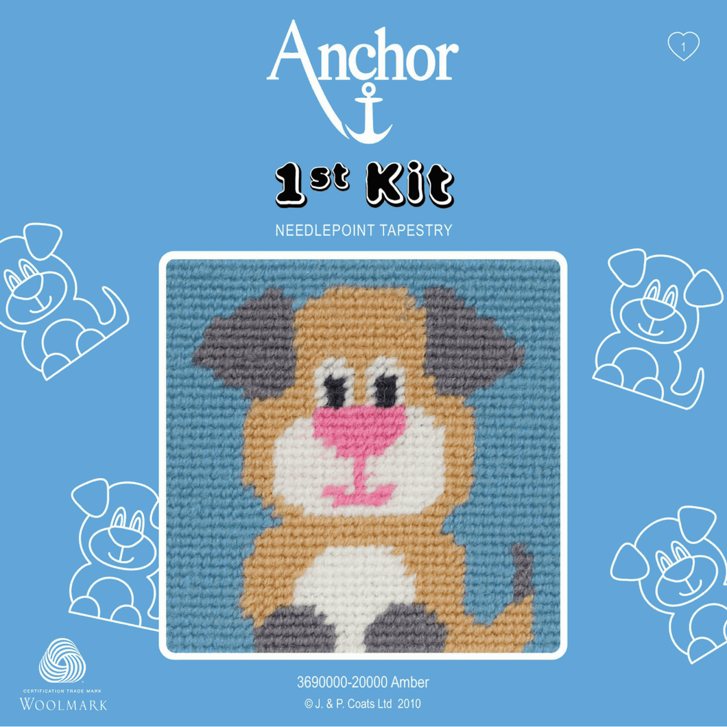 Amber Dog  -  Anchor 1st Tapestry Kit 3690000\20000