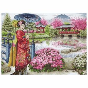 The Japanese Garden - Anchor Maia Cross Stitch Kit 5678000\1024