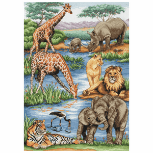 African Wildlife - Anchor Maia Cross Stitch Kit 5678000\1212