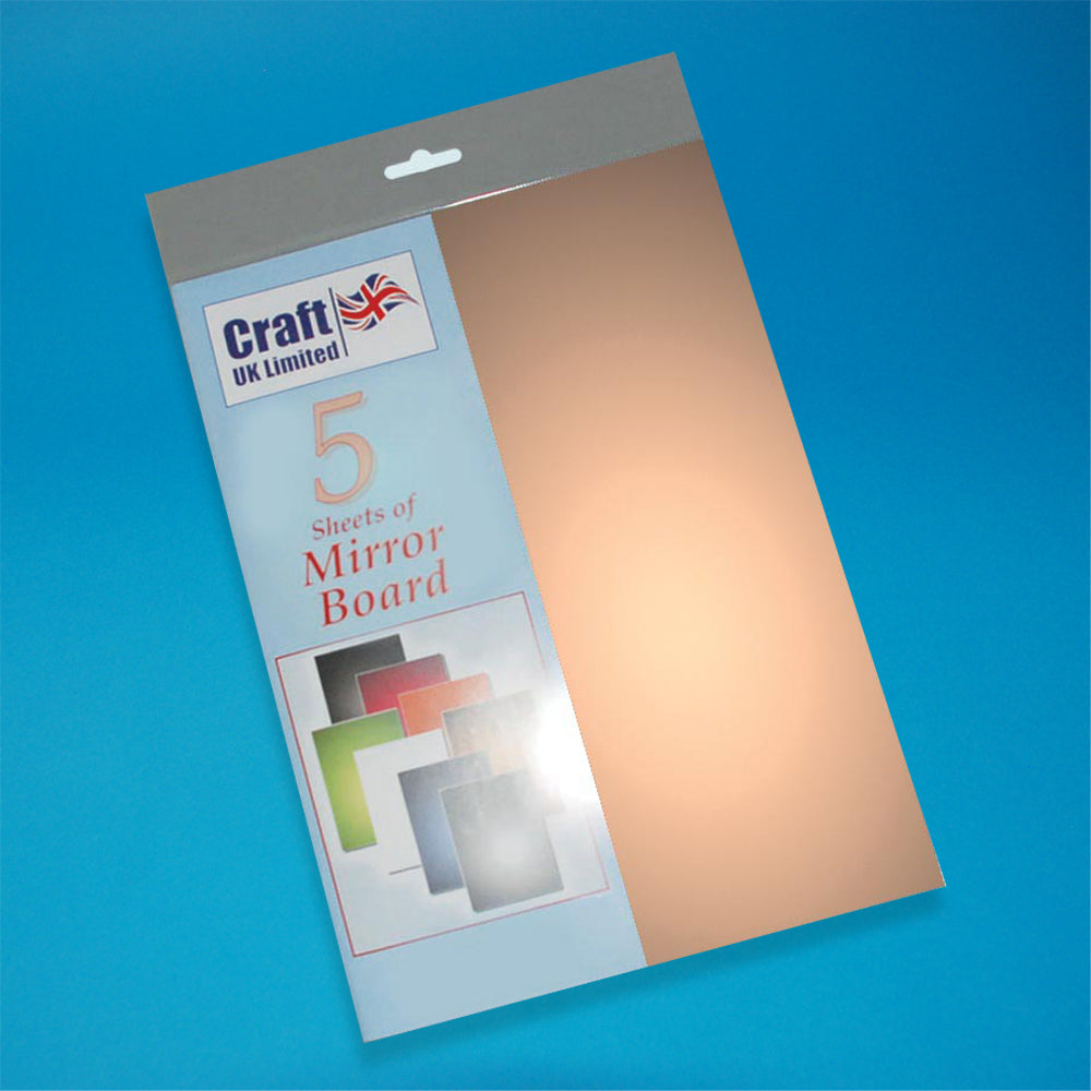 Craft UK Mirror Board A4 - Gold (5 Cards)