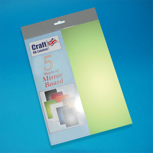 Craft UK Mirror Board A4 - Green (5 Cards)