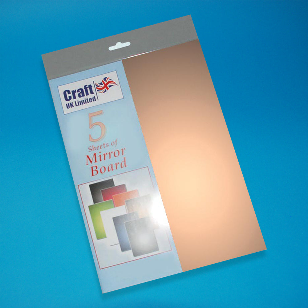 Craft UK Mirror Board A4 - Copper (5 Cards)