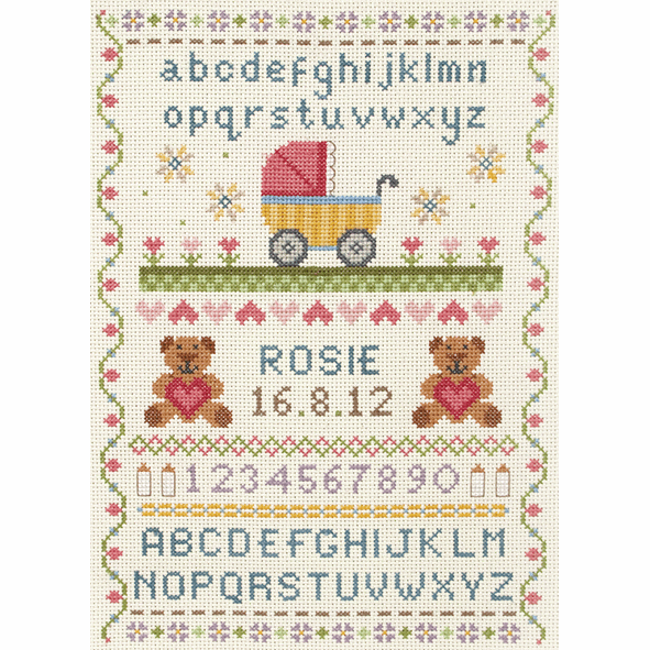 Classic  Birth Record -  Anchor Counted Cross Stitch Kit ACS31