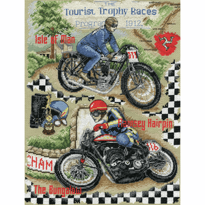 Isle of Man Motrocycling - Anchor Cross Stitch Kit ACS47
