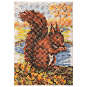 Red Squirrel - Anchor Cross Stitch Kit AK137