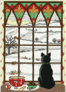Winter Through the Window Long Stitch Kit AL78467