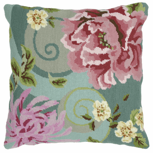 Floral Swirl in Green  Cushion -  Anchor Tapestry Kit: ALR01