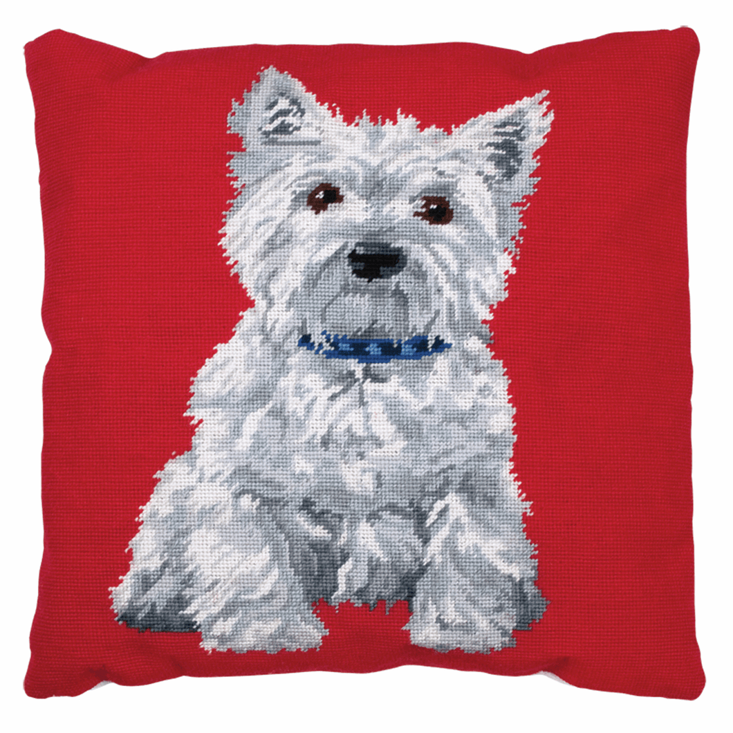 Westie Dog Cushion -  Anchor Tapestry Kit: ALR36