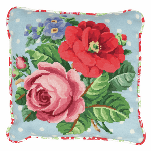 Berlin Rose Cushion -  Anchor Tapestry Kit: ALR42