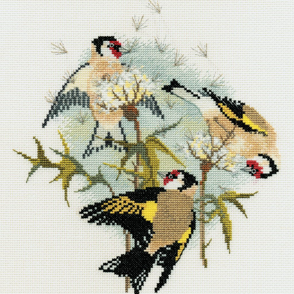 Birds - Goldfinches & Thistles - Derwentwater Designs Cross Stitch Kit DWBB04