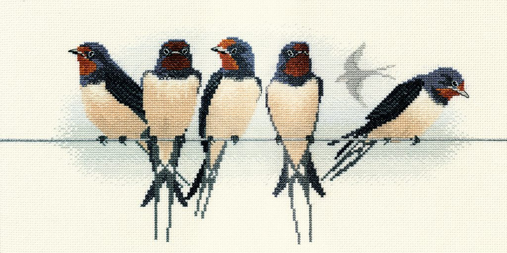 Birds - Swallows - Derwentwater Designs Cross Stitch Kit DWBB05