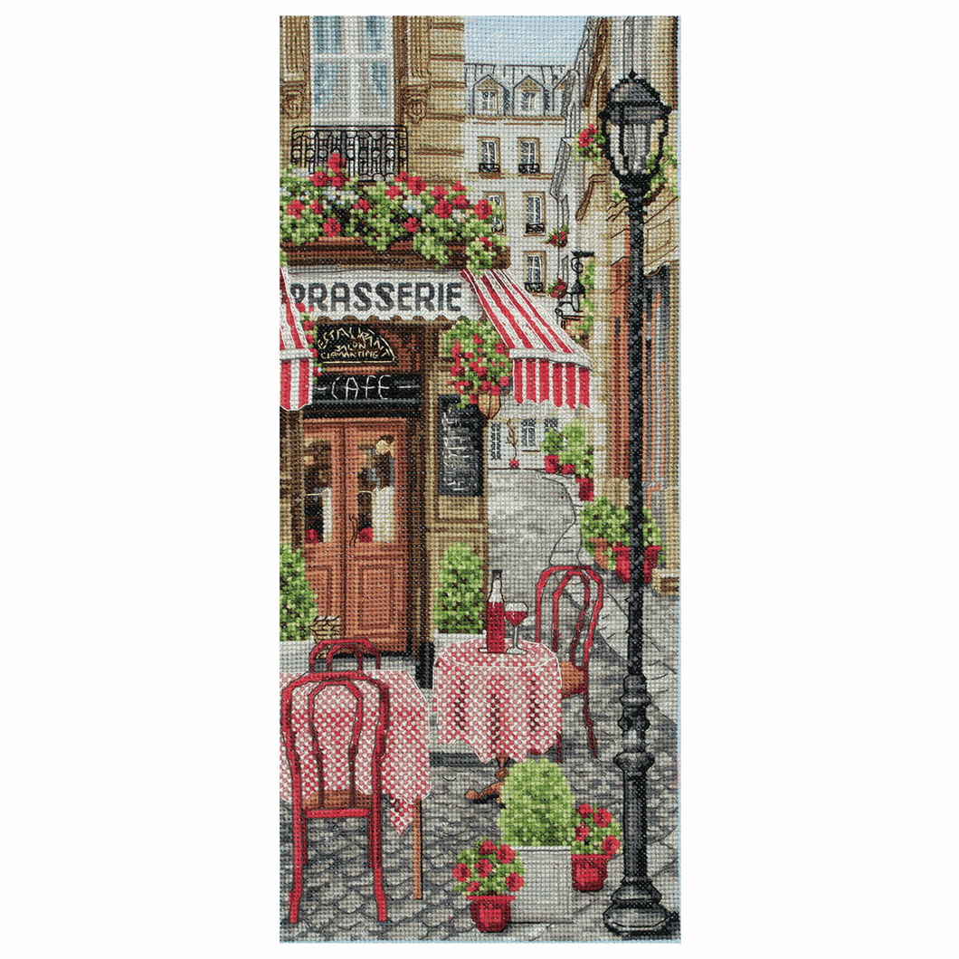 French City Scene - Anchor Cross Stitch Kit PCE0813