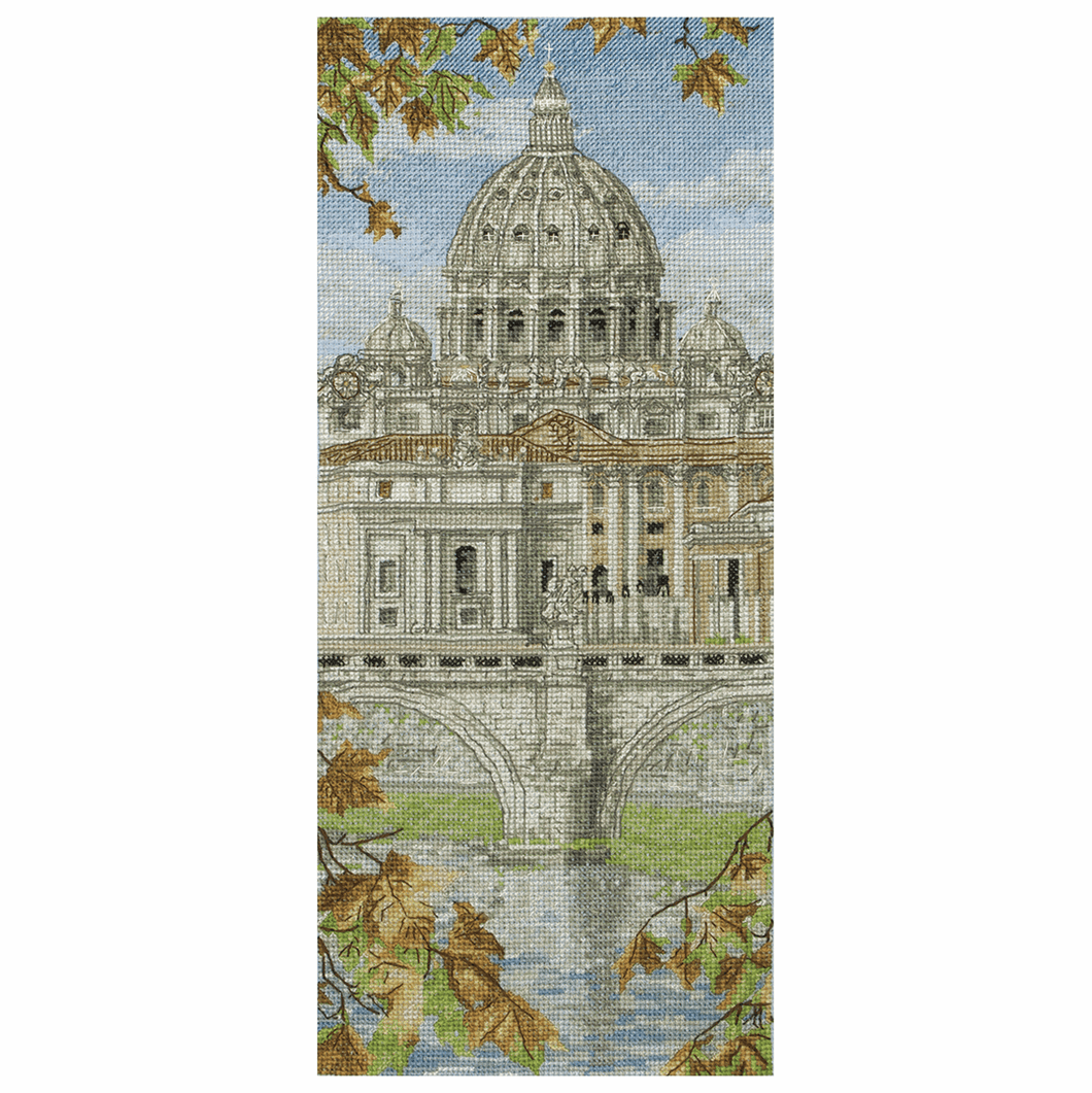 St. Peter's Basilica - Anchor Cross Stitch Kit PCE0815