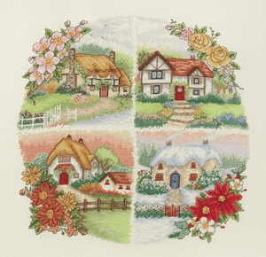 Seasonal Cottages  - Anchor Cross Stitch Kit PCE750
