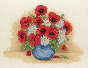Poppy Spray - Anchor Cross Stitch Kit PCE879